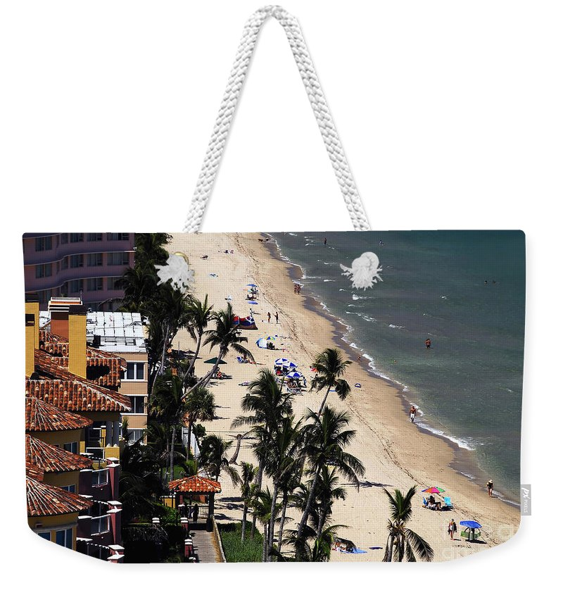 Beach Weekender Tote Bag featuring the photograph Beach Scene by David Lee Thompson