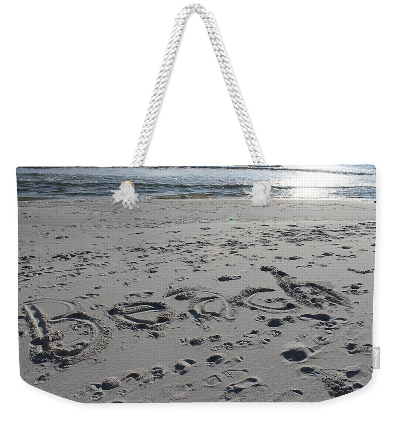 Beach Weekender Tote Bag featuring the photograph Beach, Self-named by Laura Martin