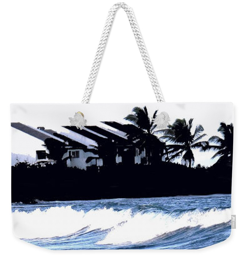 Beach Weekender Tote Bag featuring the photograph Beach Silhouette by Ian MacDonald