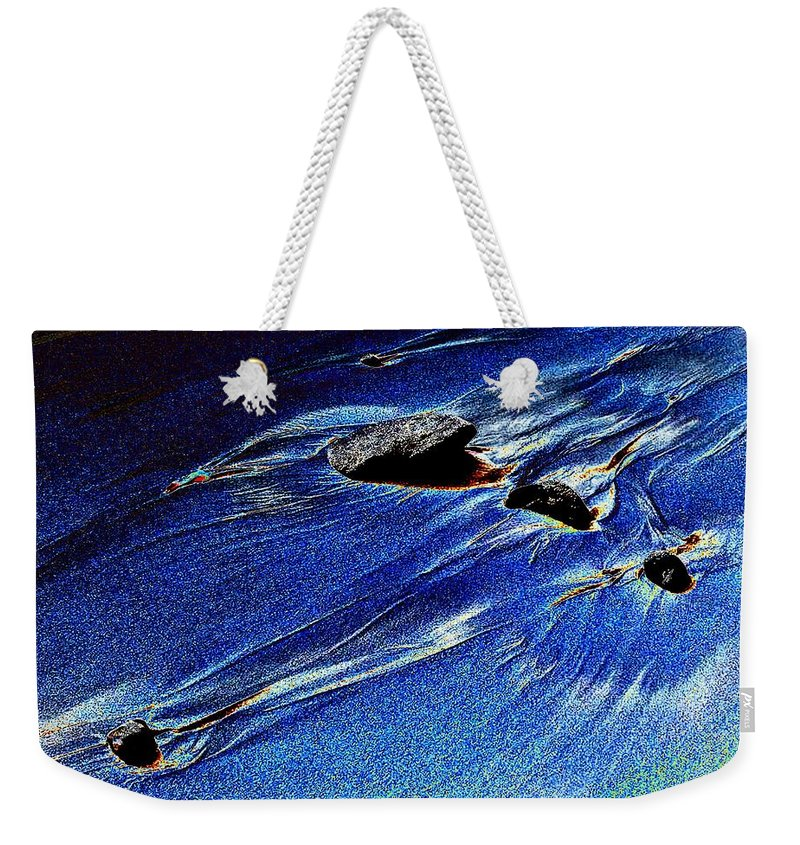 Beach Weekender Tote Bag featuring the photograph Beach Sinuosity by Tim Allen