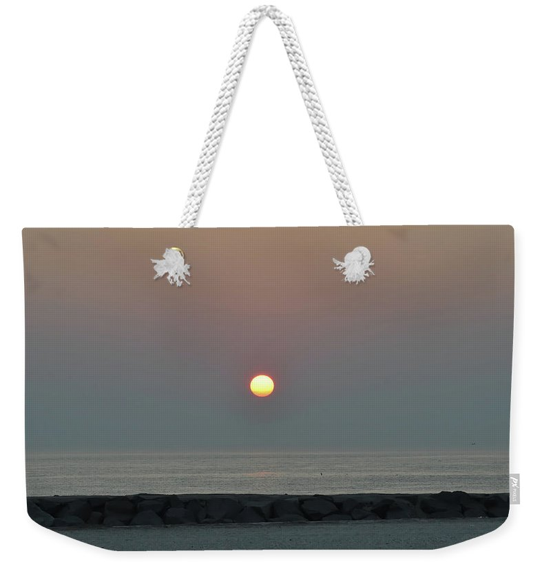 Beach Weekender Tote Bag featuring the photograph Beach Sunrise by Bill Cannon
