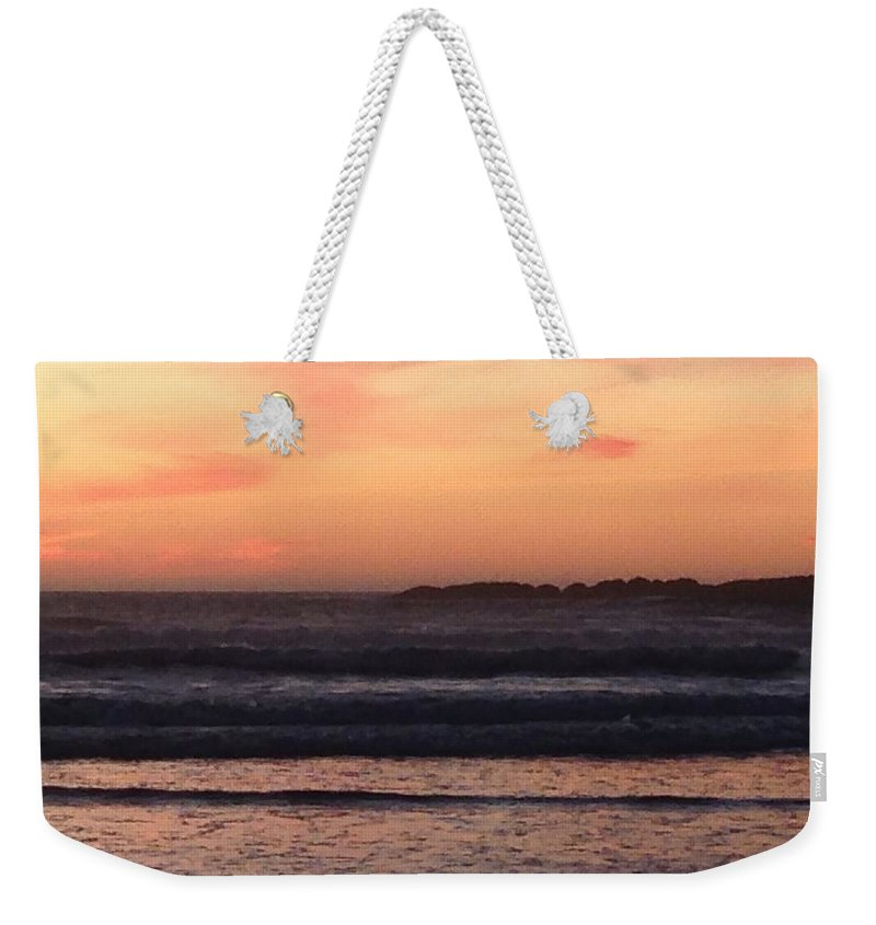 Sunset Weekender Tote Bag featuring the photograph Beach sunset by Shari Chavira
