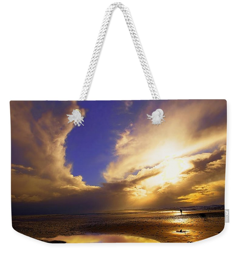 Beach Weekender Tote Bag featuring the photograph Beach Sunset by Svetlana Sewell
