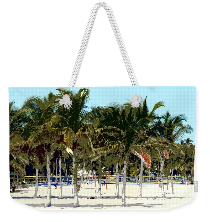 Beach Weekender Tote Bag featuring the photograph Beach Volleyball by David Lee Thompson