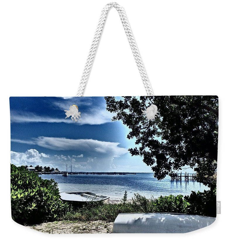 Abaco Bahamas Weekender Tote Bag featuring the photograph Beached by Cindy Ross