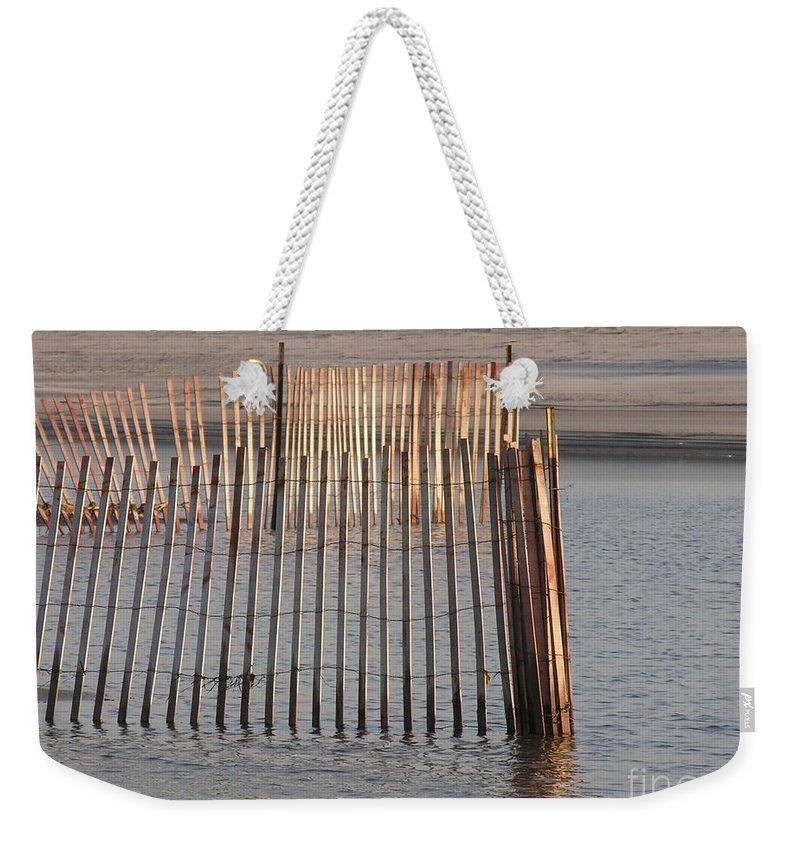 Beach Weekender Tote Bag featuring the photograph Beachy by Diane Greco-Lesser