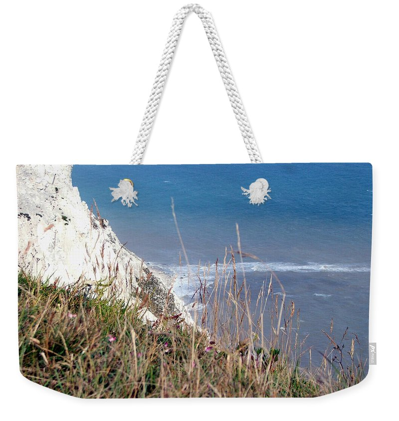 Beachy Head Weekender Tote Bag featuring the photograph Beachy Head Sussex by Heather Lennox