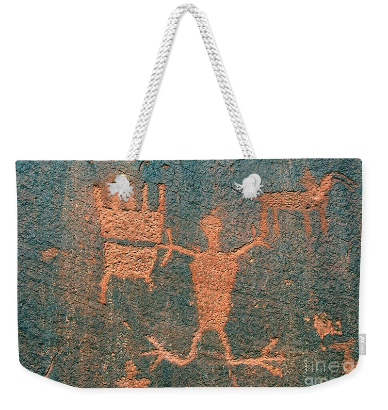 Ute Weekender Tote Bag featuring the photograph Bear Clan Horse Rider by David Lee Thompson