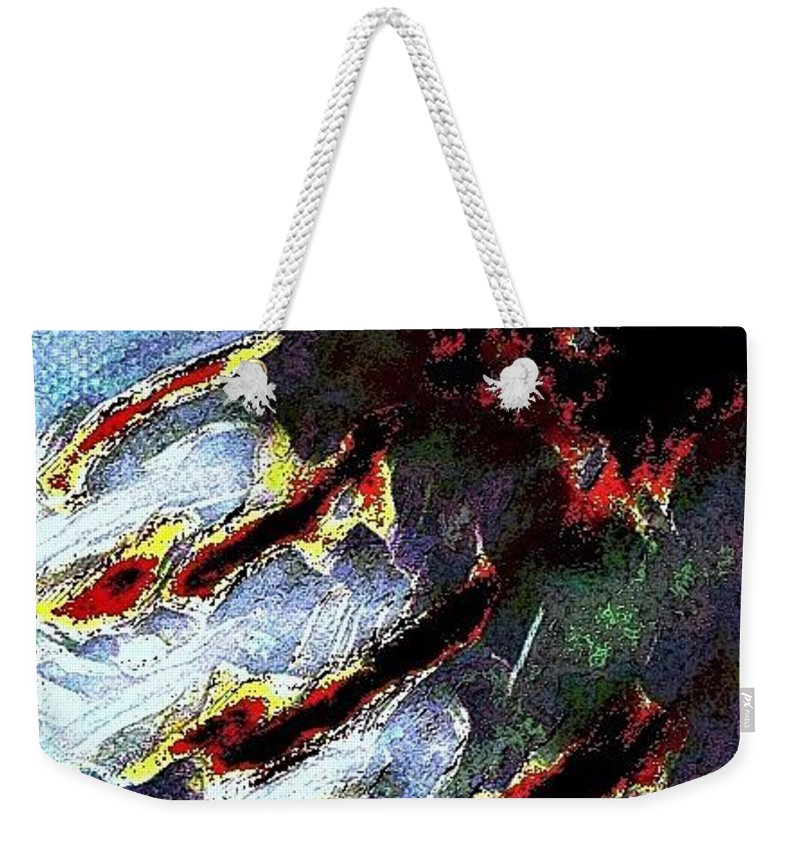 Bear Claw Weekender Tote Bag featuring the digital art Bear Claws by Ronald Christian
