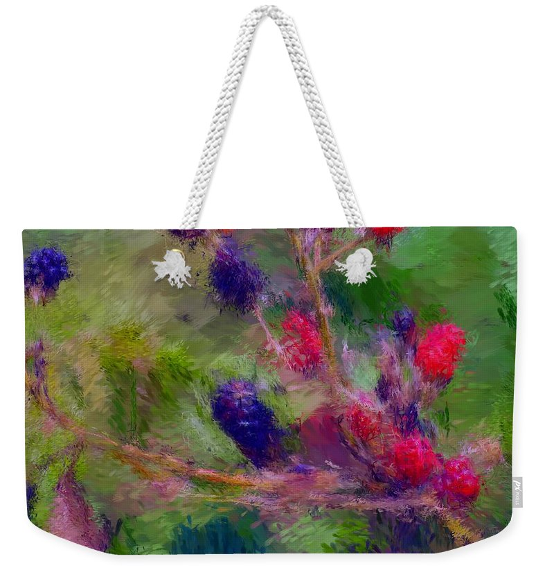 Nature Weekender Tote Bag featuring the photograph Bear Fodder by David Lane