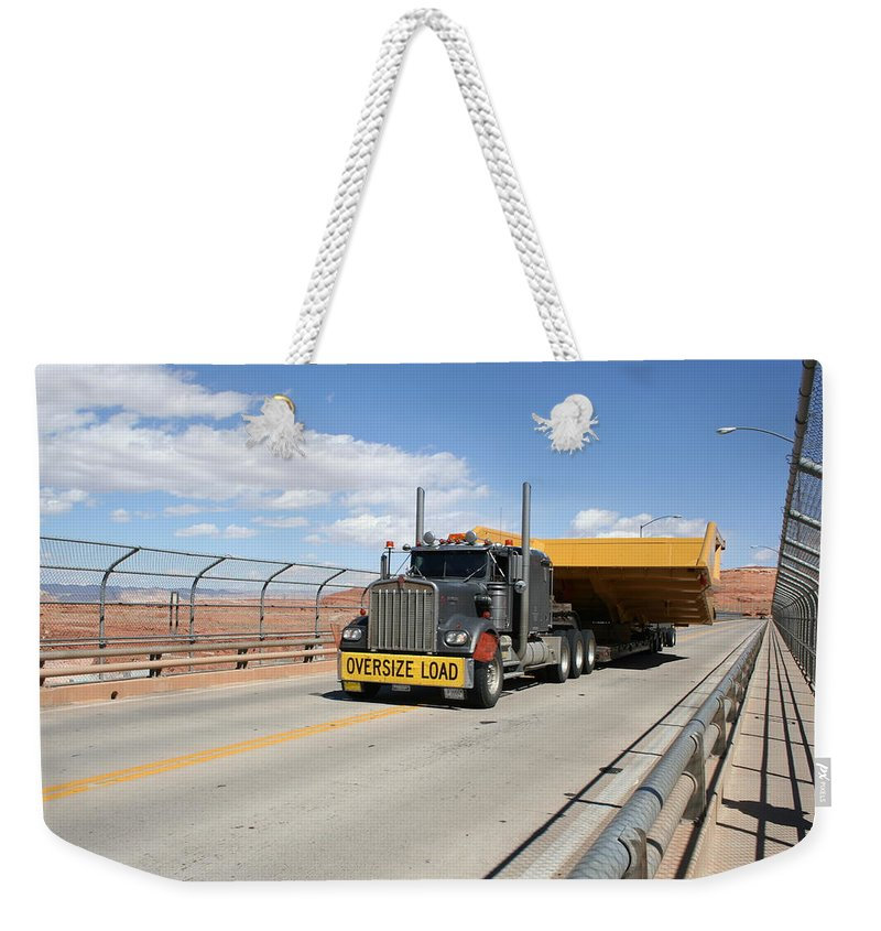 Truck Weekender Tote Bag featuring the photograph Bear Load by Christiane Schulze Art And Photography