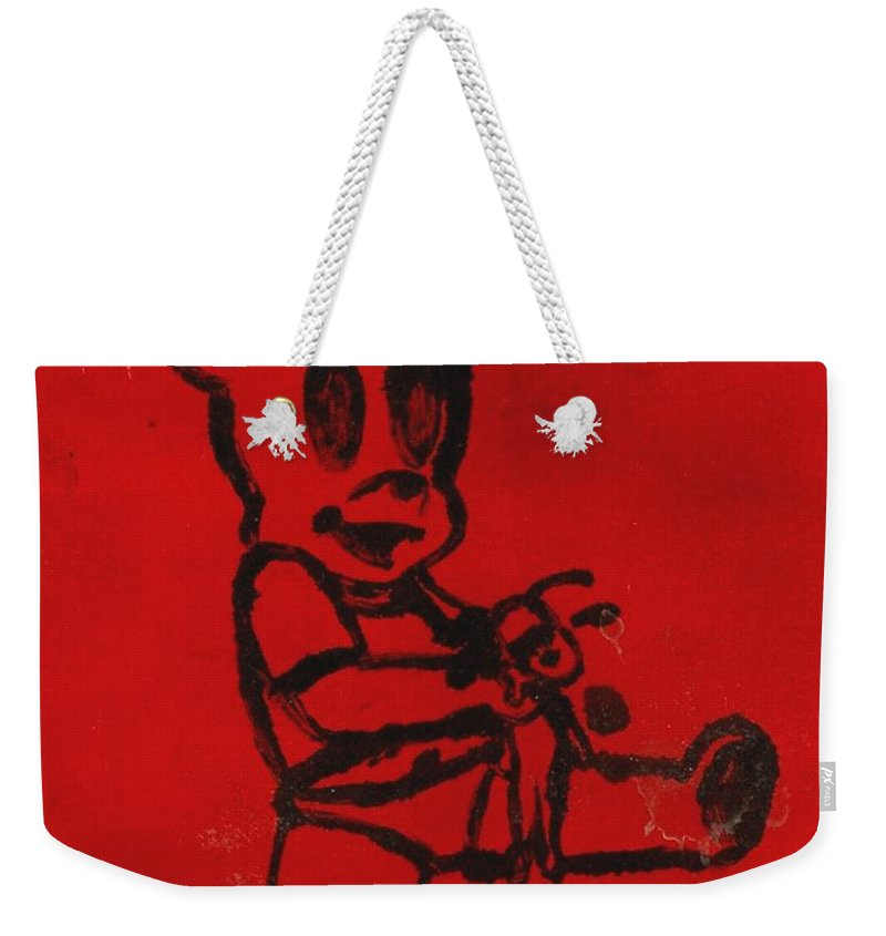 Clay Weekender Tote Bag featuring the painting Bear by Thomas Valentine