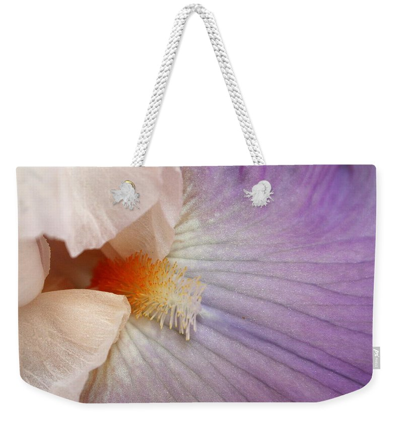 Iris Weekender Tote Bag featuring the photograph Bearded Iris by Marna Edwards Flavell