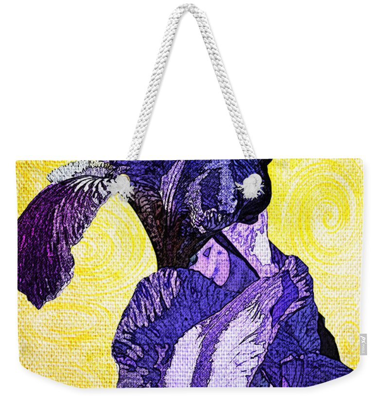 Bearded Weekender Tote Bag featuring the photograph Bearded Iris by Teresa Mucha