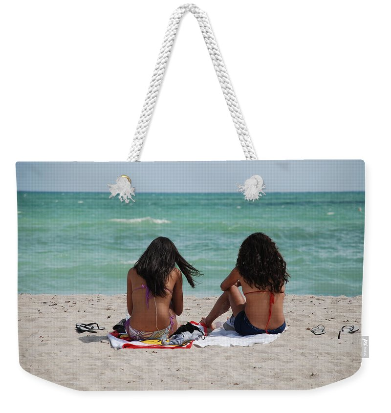 Women Weekender Tote Bag featuring the photograph Beauties On The Beach by Rob Hans