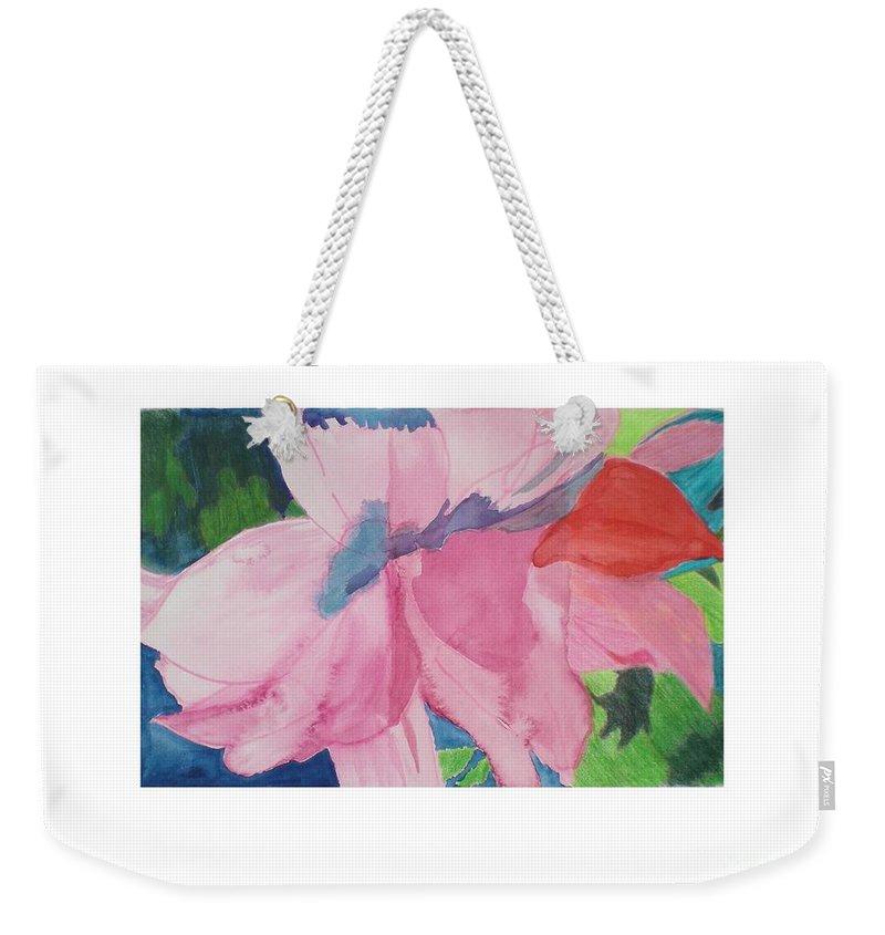 Flower Weekender Tote Bag featuring the painting Beautiful Azalea by Hal Newhouser