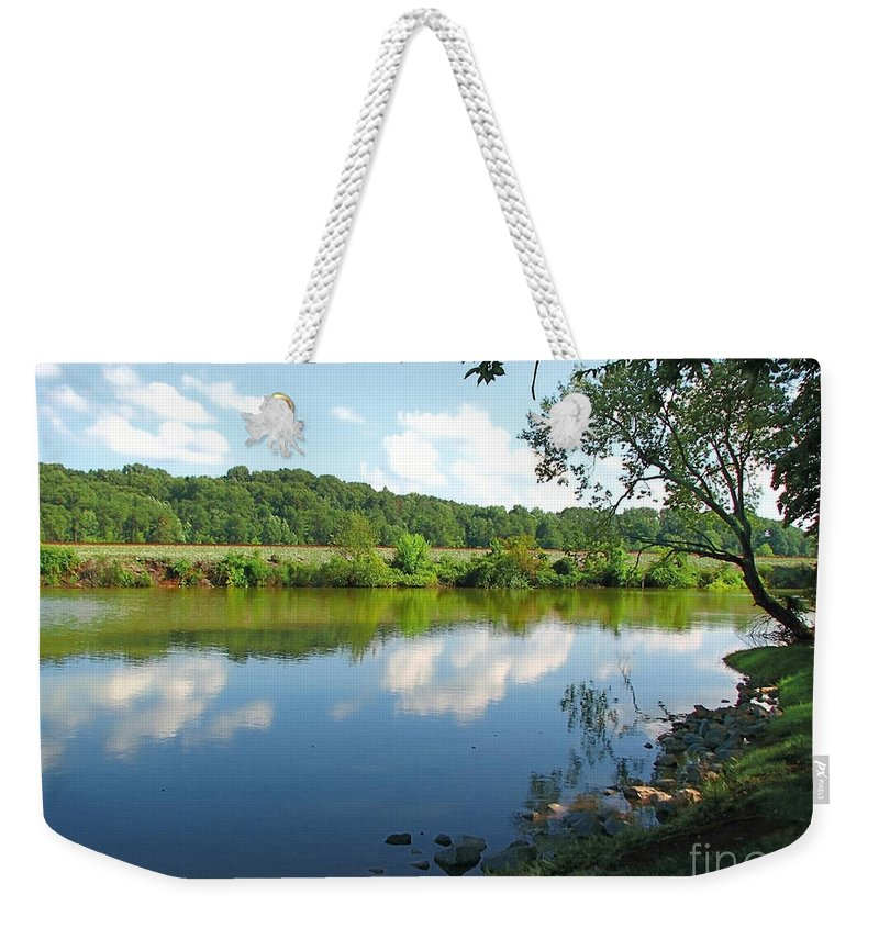 Landscape Weekender Tote Bag featuring the photograph Beautiful Blue Water by Todd A Blanchard