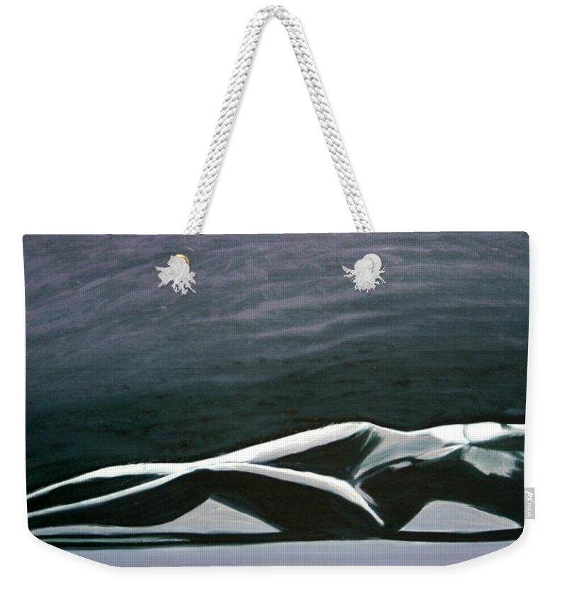 Art Weekender Tote Bag featuring the painting Beautiful Diver by Jarmo Korhonen aka Jarko