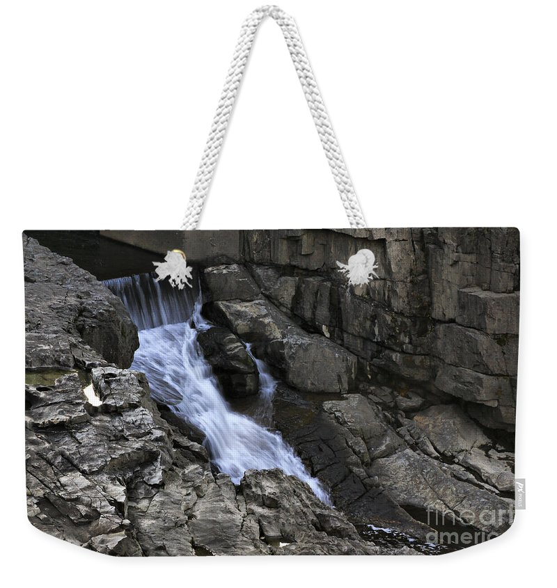 Water Weekender Tote Bag featuring the photograph Beautiful Flow Of Power by Deborah Benoit