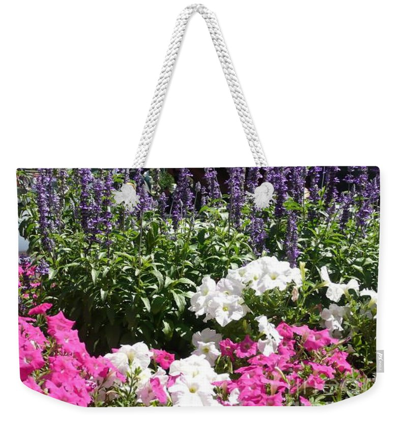 Flowers Weekender Tote Bag featuring the photograph Beautiful Flowers by Barb Montanye Meseroll