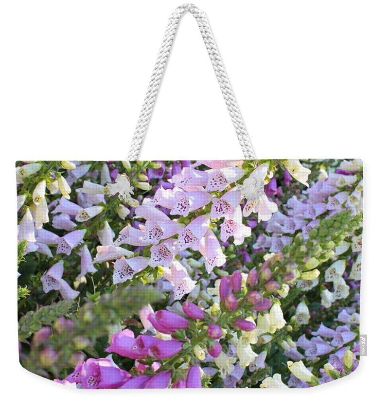 Foxglove Weekender Tote Bag featuring the photograph Beautiful Foxglove by Carol Groenen