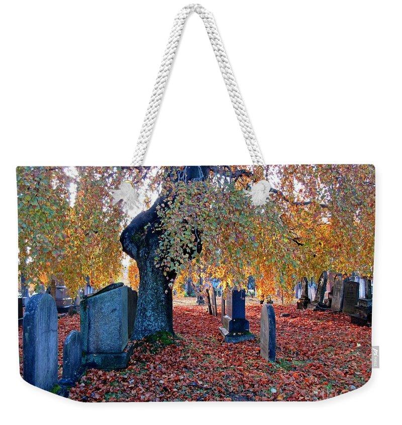 Beautiful Historic Camp Hill Cemetery Halifax Nova Scotia Weekender Tote Bag featuring the photograph Beautiful Historic Camp Hill Cemetery Halifax Nova Scotia by John Malone