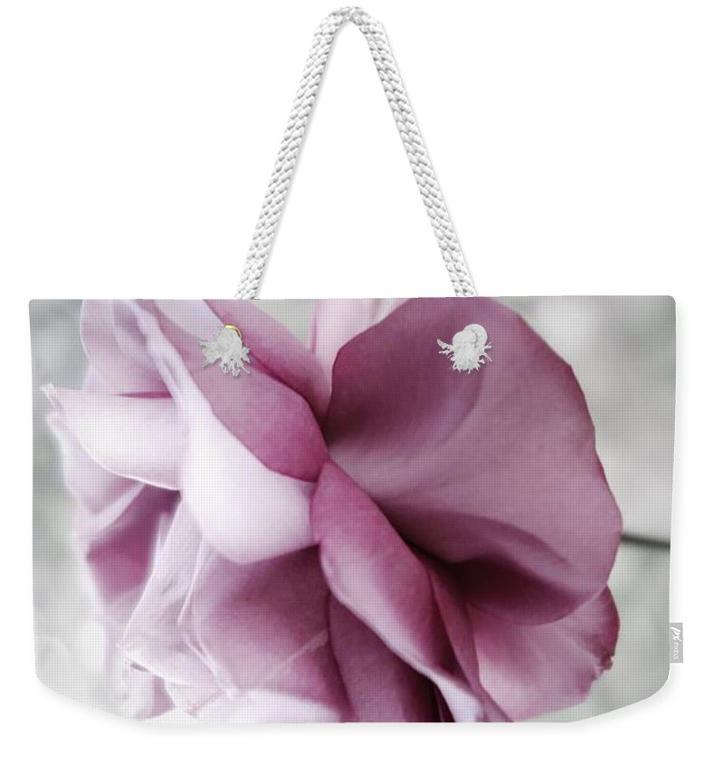 Floral Weekender Tote Bag featuring the photograph Beautiful Lavender Rose by Tara Shalton