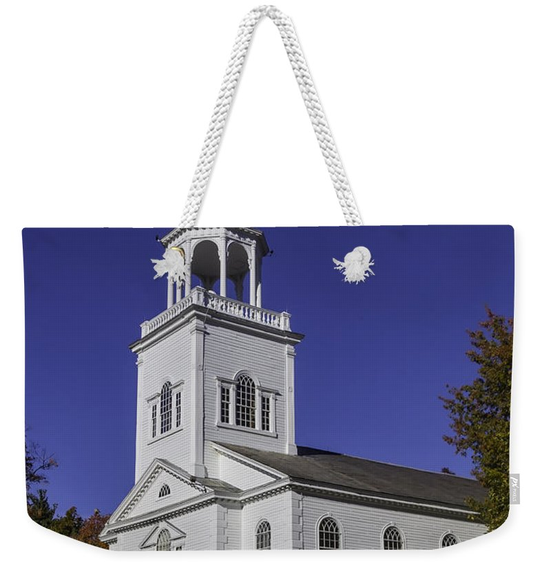 Old First Church Weekender Tote Bag featuring the photograph Beautiful Old First Church by Garry Gay