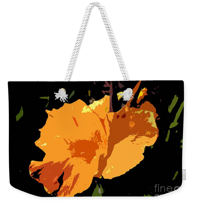 Flower Weekender Tote Bag featuring the photograph Beautiful Orange Work Number 19 by David Lee Thompson
