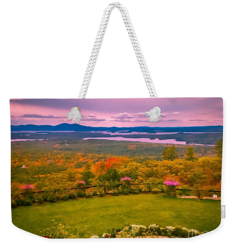 New England Weekender Tote Bag featuring the photograph Beautiful Overview Of New Hampshire by Claudia M Photography