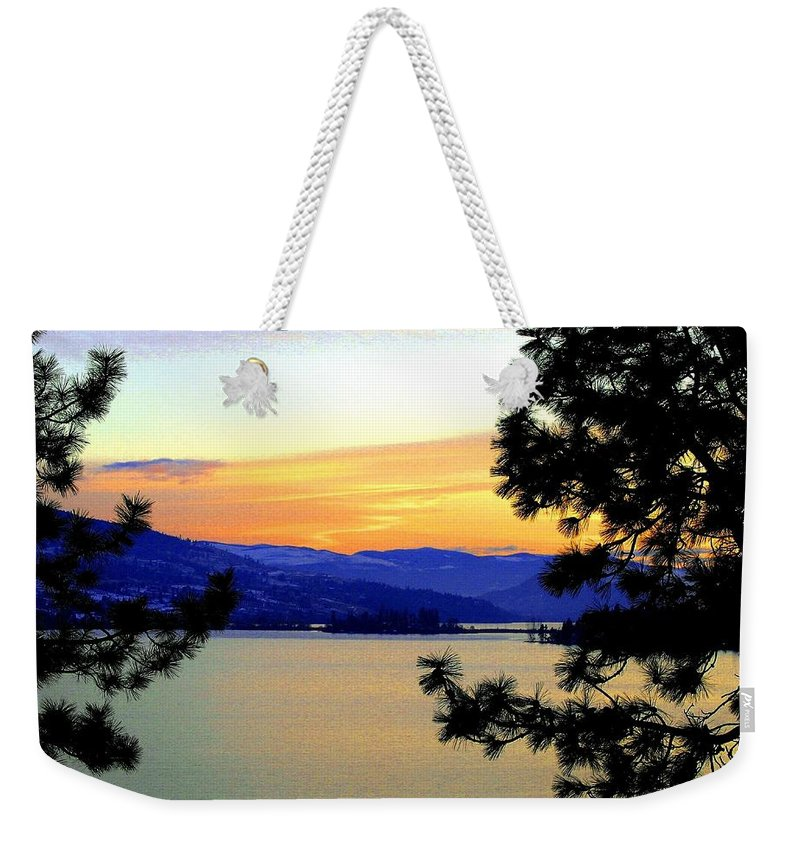 Oyama Weekender Tote Bag featuring the photograph Beautiful Oyama Isthmus by Will Borden