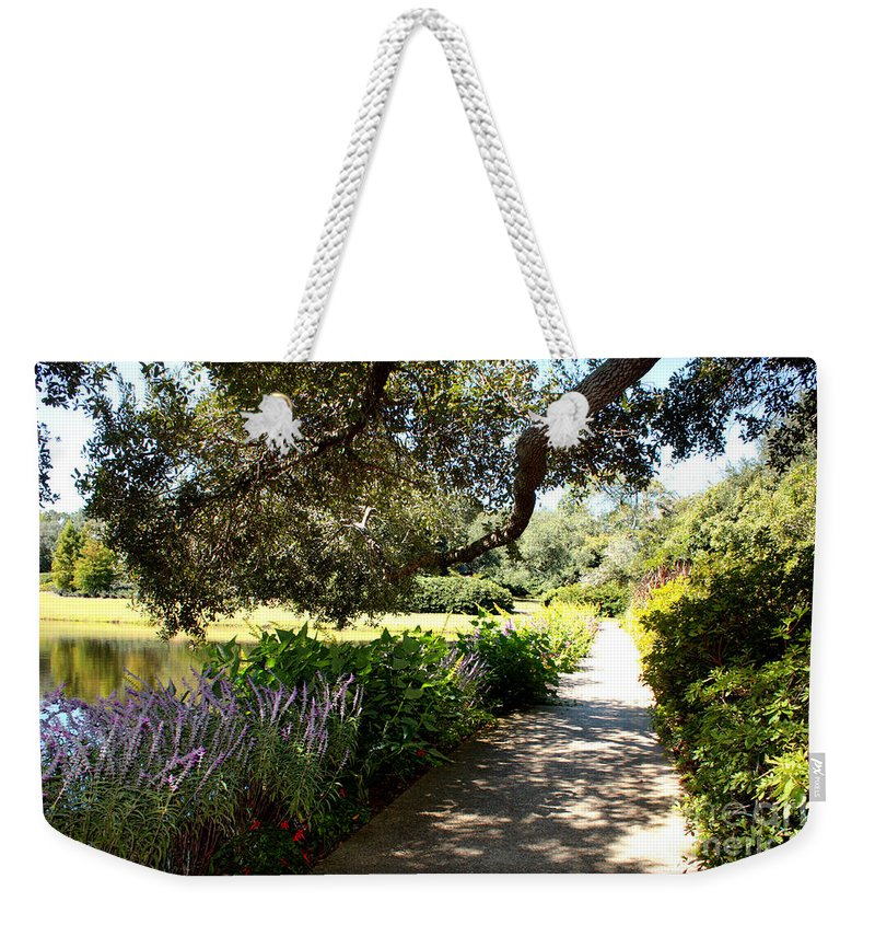 Pond Weekender Tote Bag featuring the photograph Beautiful Pond Path by Carol Groenen