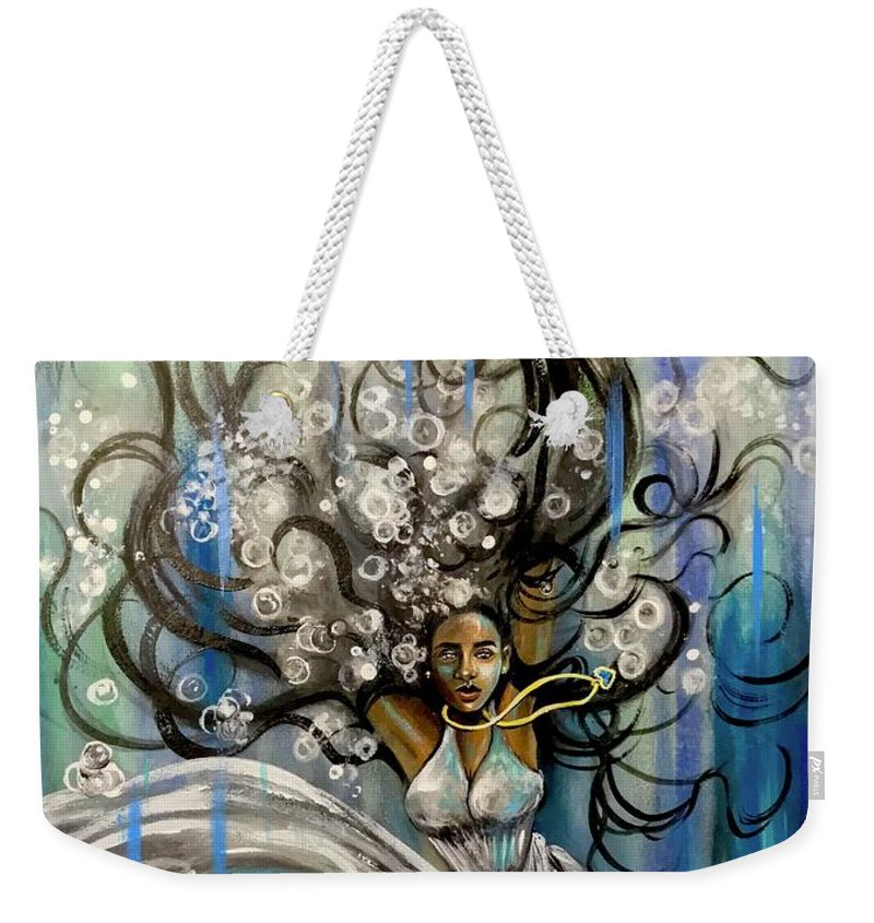 Artist_ria Weekender Tote Bag featuring the painting Beautiful Struggle by Artist RiA