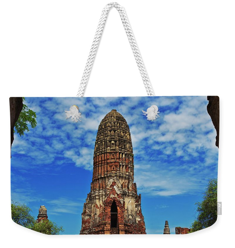 Thailand Weekender Tote Bag featuring the photograph Beautiful Wat Phra Ram Temple In Ayutthaya, Thailand by Sam Antonio Photography