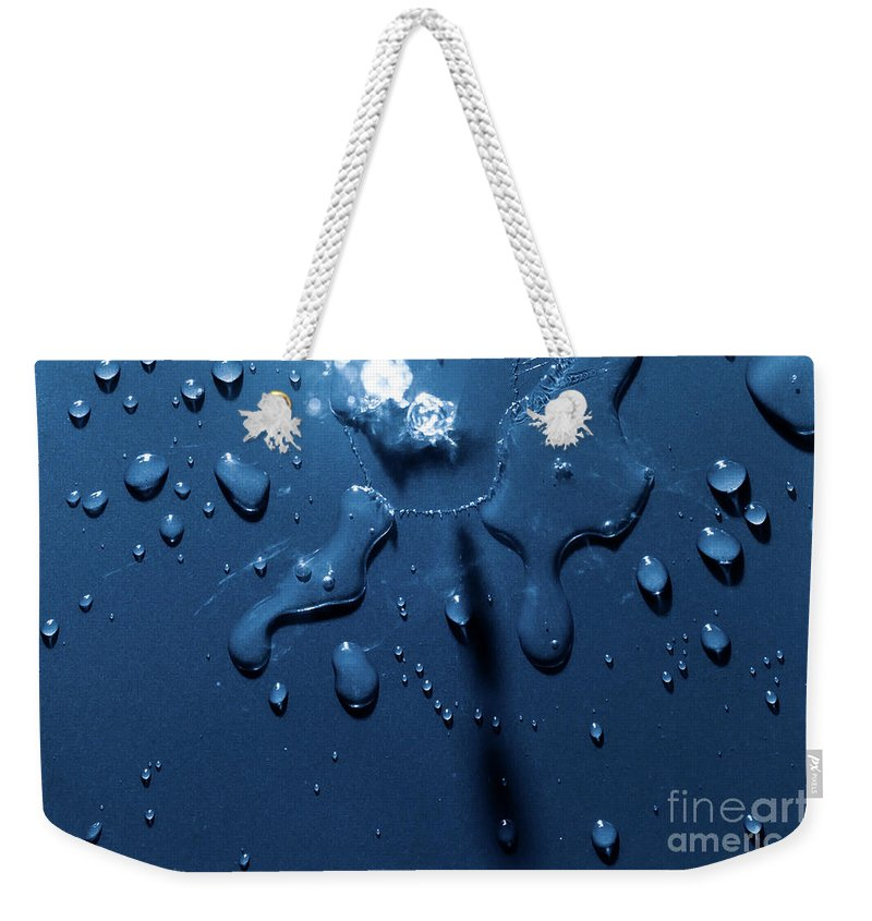Splash Weekender Tote Bag featuring the photograph Beautiful Water Splashes Viewed From Above by Simon Bratt Photography LRPS