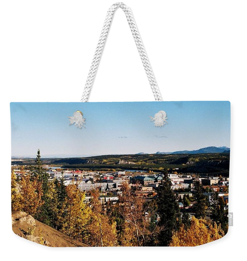 North America Weekender Tote Bag featuring the photograph Beautiful Whitehorse ... by Juergen Weiss