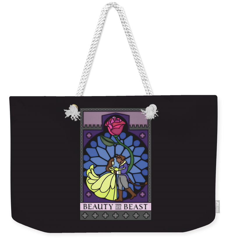 Beauty Weekender Tote Bag featuring the digital art Beauty And The Beast by Nathan Kotecki