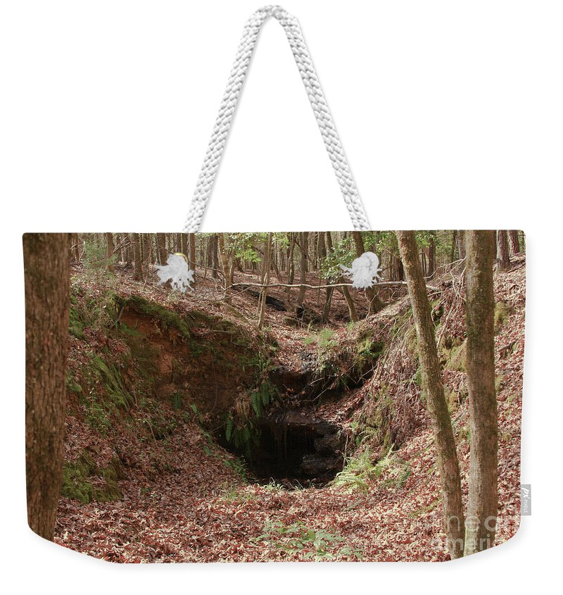 Waterfall Weekender Tote Bag featuring the photograph Beauty Below by Kim Henderson