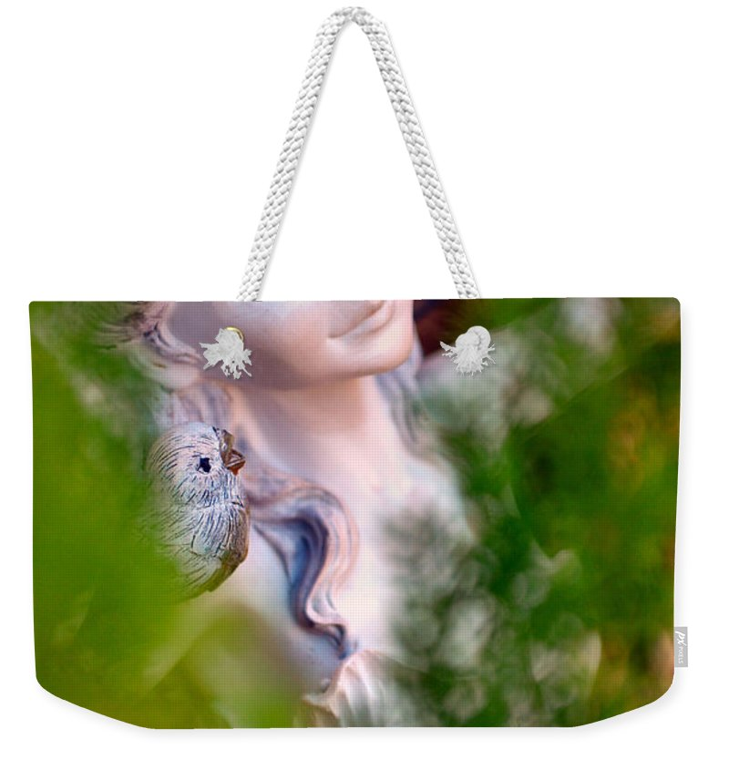 Fern Bed Weekender Tote Bag featuring the photograph Beauty In The Ferns by Deb Halloran