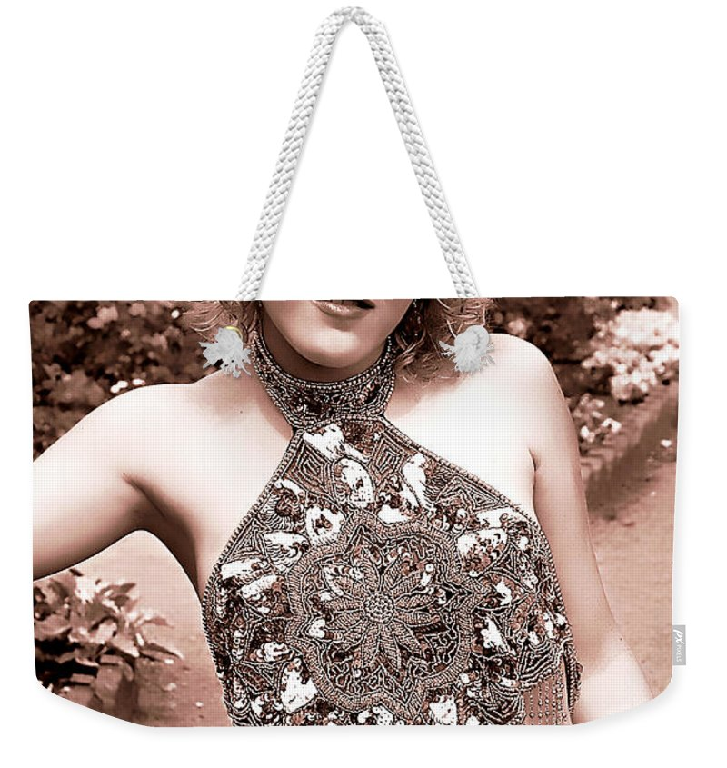 Clay Weekender Tote Bag featuring the photograph Beauty In The Garden by Clayton Bruster
