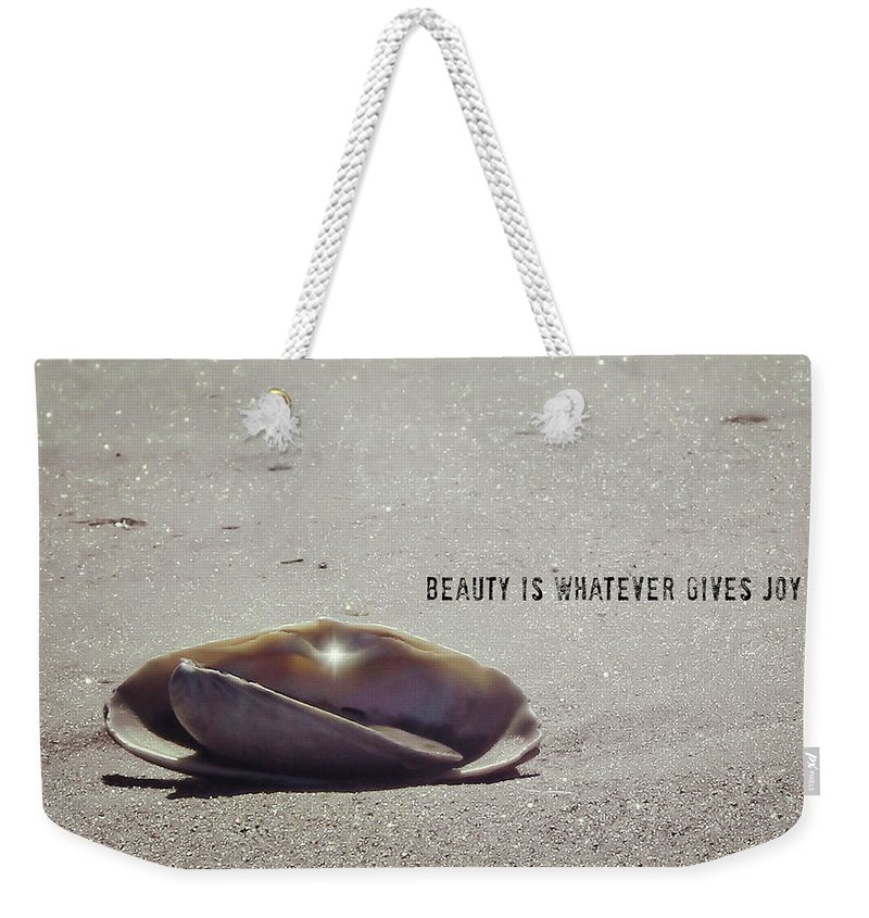 Beauty Weekender Tote Bag featuring the photograph Beauty Star Quote by JAMART Photography
