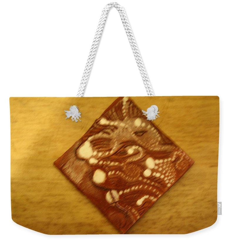 Jesus Weekender Tote Bag featuring the ceramic art Beckons - Tile by Gloria Ssali