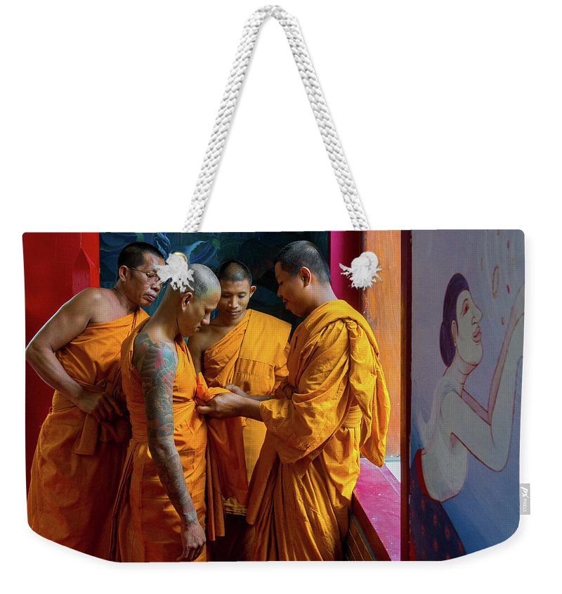 Monk Weekender Tote Bag featuring the photograph Becoming A Monk by Lee Craker
