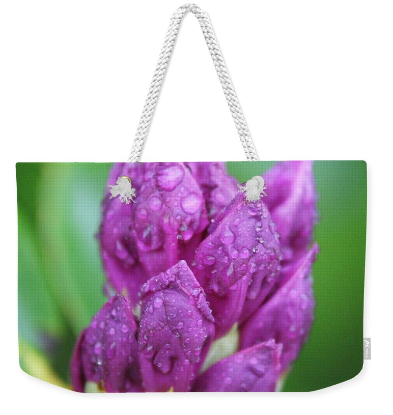 Flower Weekender Tote Bag featuring the photograph Bedazzled by Alex Grichenko