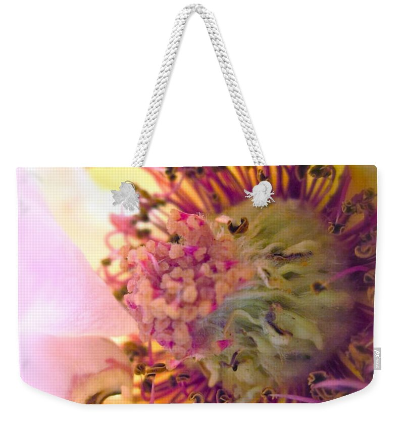 Rose Weekender Tote Bag featuring the photograph Bedazzled by Gwyn Newcombe