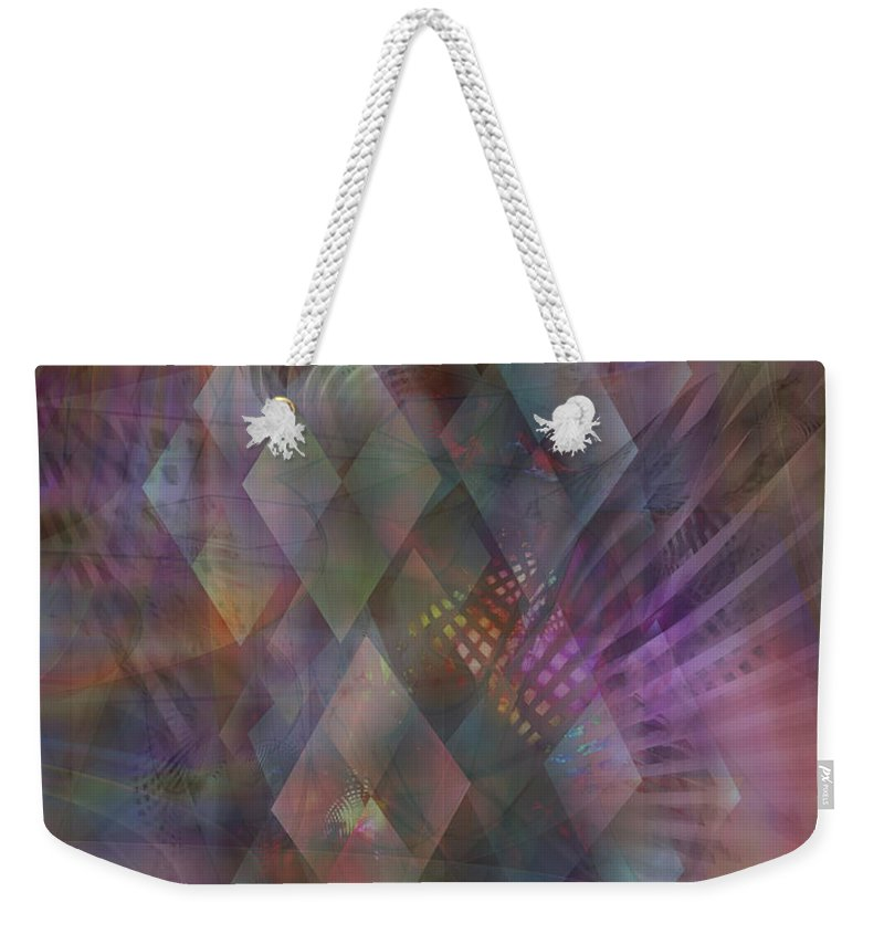 Bedazzled Weekender Tote Bag featuring the digital art Bedazzled by John Beck