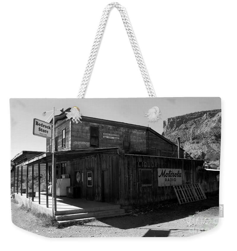 Bedrock Colorado Weekender Tote Bag featuring the photograph Bedrock Store 1881 by David Lee Thompson