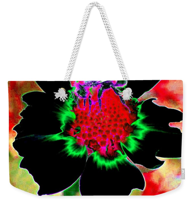 Bee Weekender Tote Bag featuring the digital art Beedazzling by Will Borden