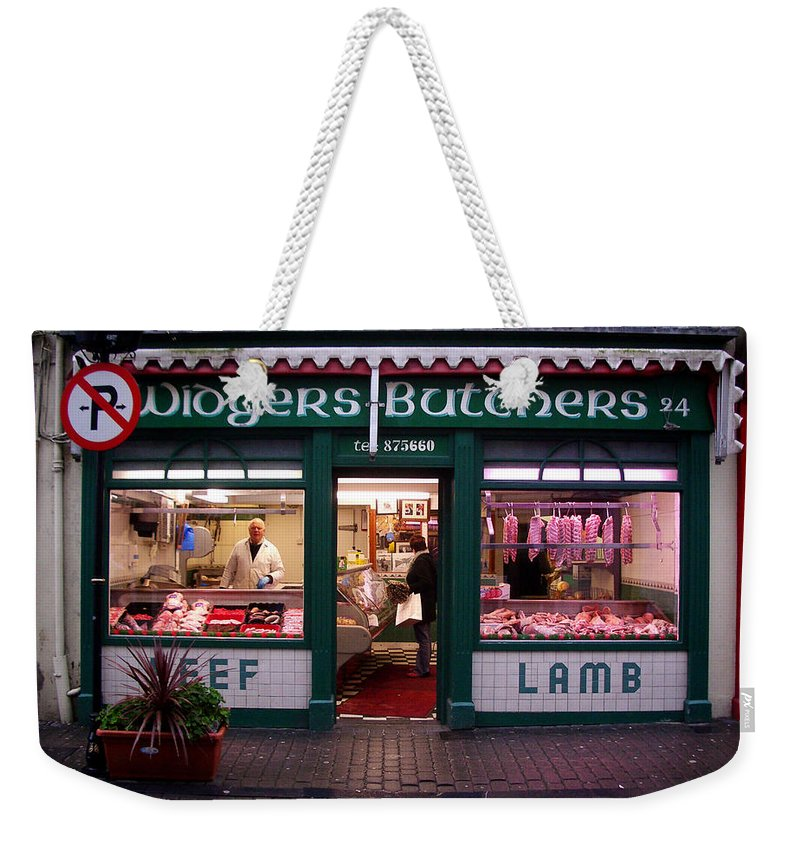 Butcher Weekender Tote Bag featuring the photograph Beef Lamb by Tim Nyberg