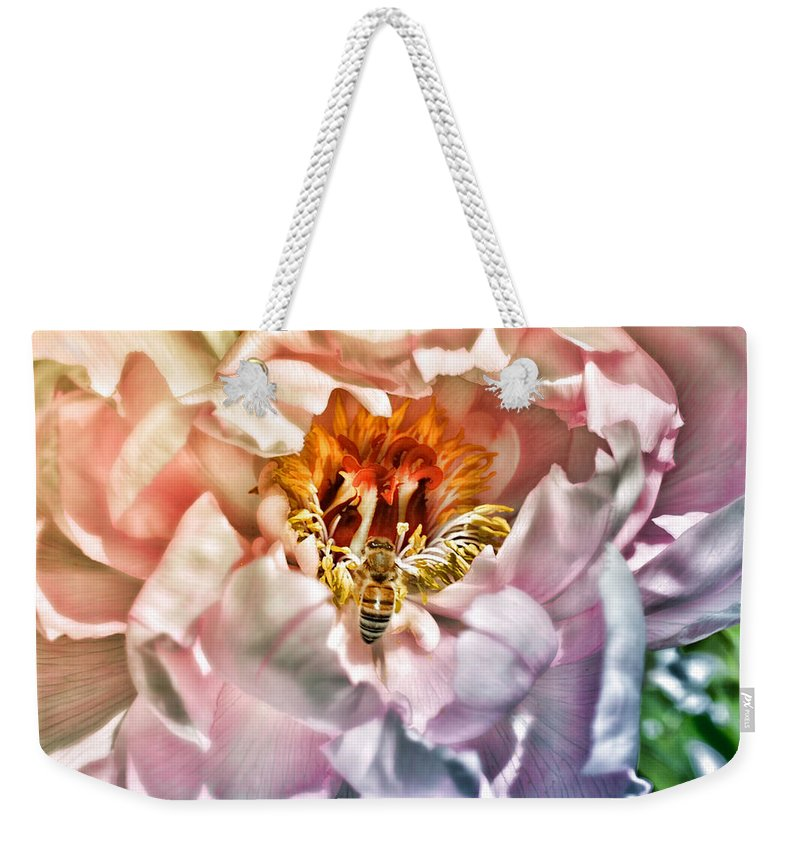 Nature Weekender Tote Bag featuring the photograph Beekeeper by Mike Smale